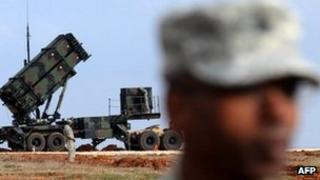 US Patriot missile battery in Turkey (February 2013)