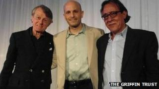 (l-r) Scott Griffin, Fady Joudah and Ghassan Zaqtan