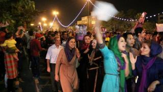 Iranians celebrating