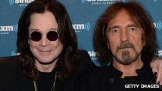 (l-r)Ozzy Osbourne and Geezer Butler