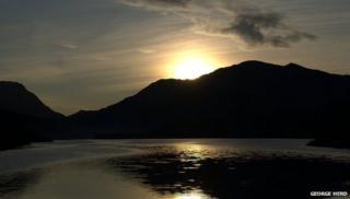Llyn Padarn from Fachwen at dawn