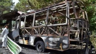 "Weeping relatives gathered to identify the charred remains of loved ones killed in a double attack in Pakistan""s troubled southwest claimed by a"