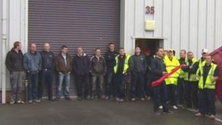 Workers are protesting over apparent job losses
