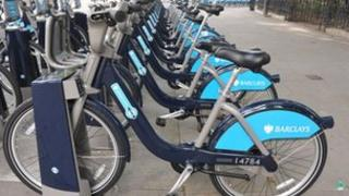 Cycle hire scheme bicycles