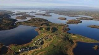 lough erne resort aerial view