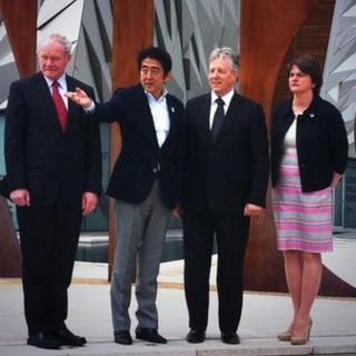 Shinzo Abe at Titanic Belfast