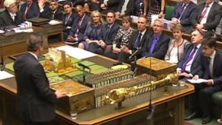 David Cameron faces Ed Miliband at PM's questions