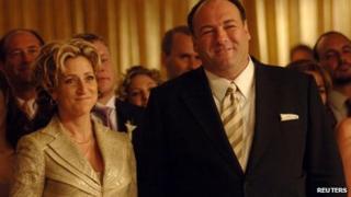 Edie Falco and James Gandolfini in The Sopranos