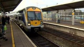 Train in Belfast