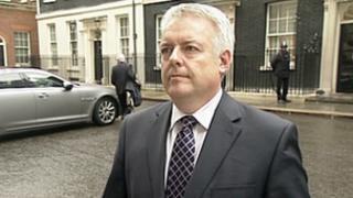 Carwyn Jones outside 10 Downing Street