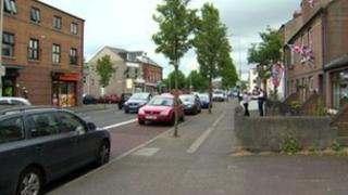 Police investigate the attack close to the Albertbridge Road