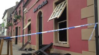 The blaze broke out at the Ownies Bar and Bistro in Carrickfergus