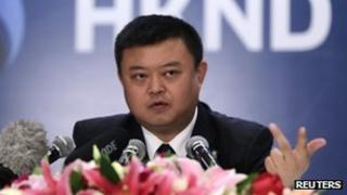 Wang Jing speaks to reporters in Beijing (25 June 2013)