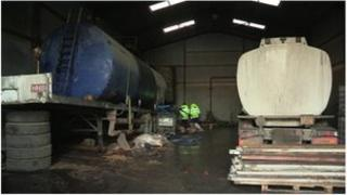 An illegal fuel plant was seized in Armagh in January