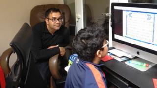 Fawad Rana and his son Humza