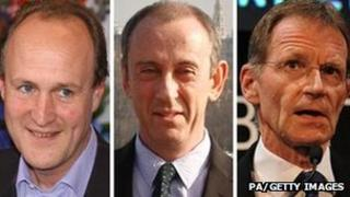 Sir Peter Bazalgette, Sir Nicholas Hytner and Sir Nicholas Serota