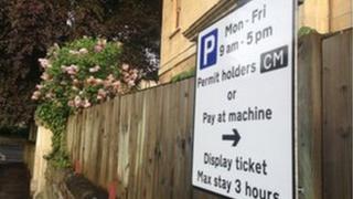 Resident parking zone in Bristol