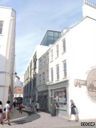 Channel Island Co-Op plans for Dumaresq Street