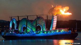 Nessie breathes fire