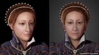 3D image of Mary, Queen of Scots