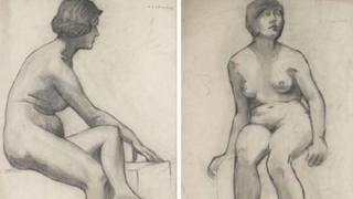 LS Lowry life drawing sketches
