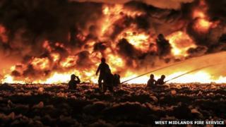 Firefighters tackle blaze in Smethwick