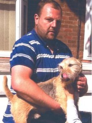 Mark Flynn with his dog Scamp