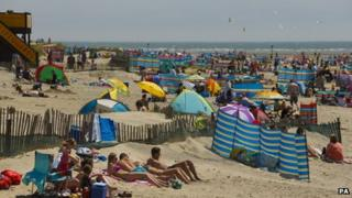 West Wittering beach, West Sussex on 30 June 2013