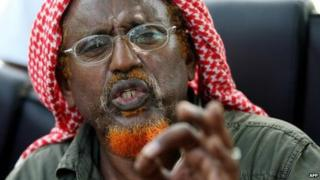 Sheikh Hassan Dahir Aweys speaks in Mogadishu (24 June 2009)