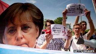 Protesters in Berlin
