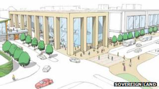 Artists impression of Telford shopping centre