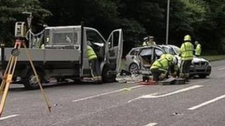 Treluswell crash scene
