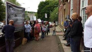 Vigil outside police station in High Wycombe