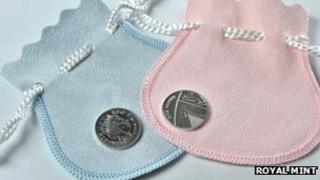 Silver penny to commemorate the birth of the Royal baby