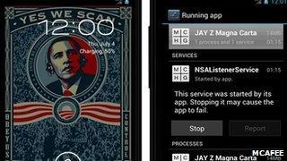 Screengrab of cloned app