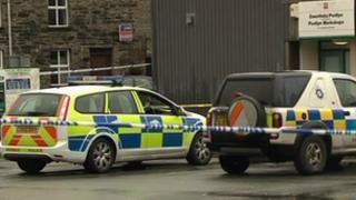 police cars at Bala