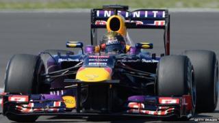 Sebastian Vettel in the German Formula One Grand Prix