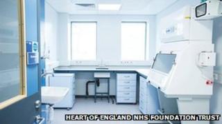 Heartlands Hospital pathology lab