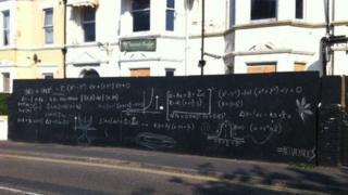The graffiti on Boscombe Crescent in Boscombe, Bournemouth