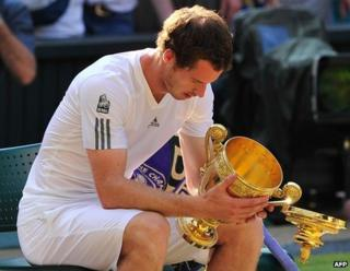 Andy Murray with the winner's cup