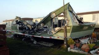 Caravan remains