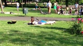 Kelvingrove Park, Glasgow: Warmest day 2013