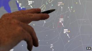 Air traffic control screen