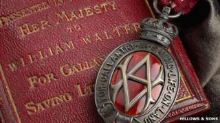 The Albert Medal awarded to William Walters