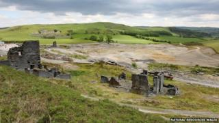 The remains of Frongoch mine