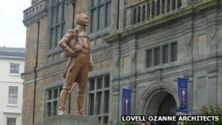 Architect's impression of the statue