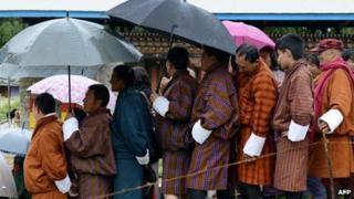Voters in Bhutan (May 2013)