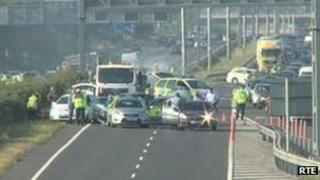 Gardai stop vehicle on M1 outside Dublin