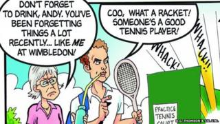 Andy Murray appearing in the Beano
