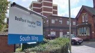 Entrance to Bedford Hospital